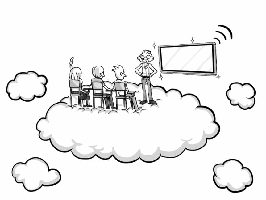 Contribute Cloud caricatura